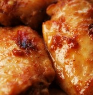 plum-sauced chicken wings