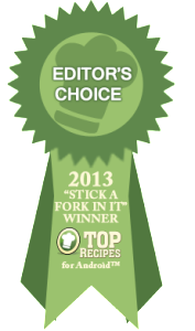 Editori's Choice Stick a Fork In It Recipe Winner
