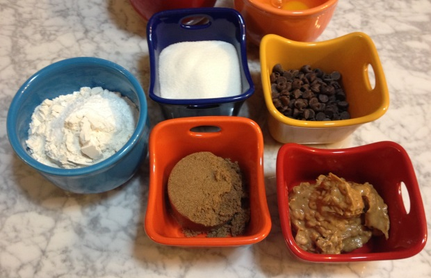peanut butter bars mise en place