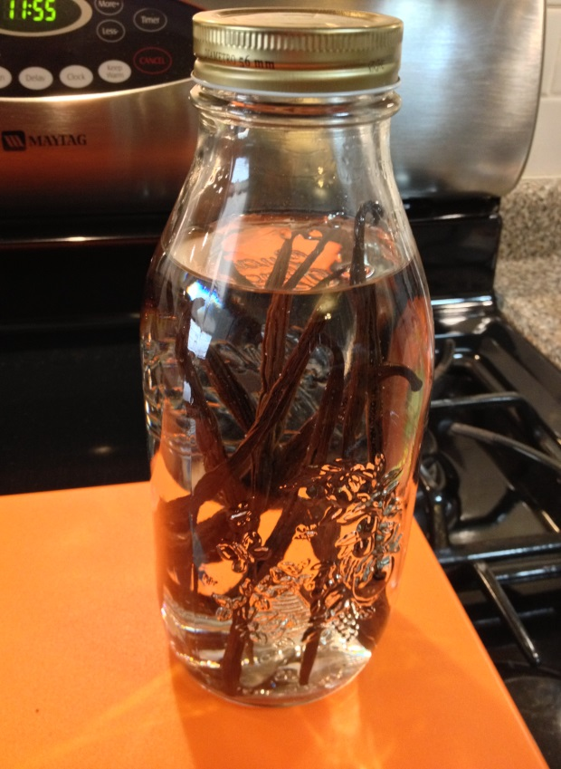 homemade vanilla extract in jar