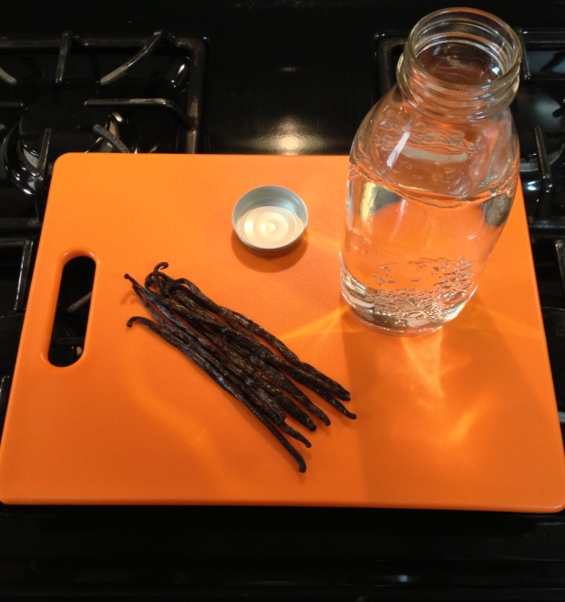 vanilla extract mise en place