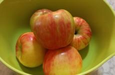 honey crisp apples in green bowl