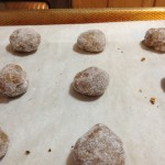 flatten cookie balls and slight indent