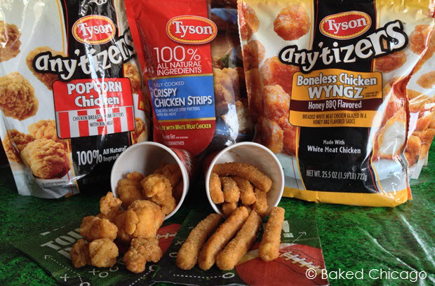 Tyson Crispy Chicken Strips and Any'tizers make a winning team