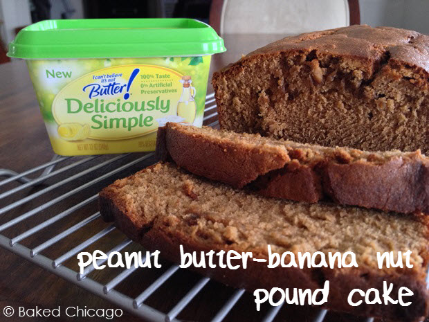 Peanut Butter-Banana Nut Pound Cake