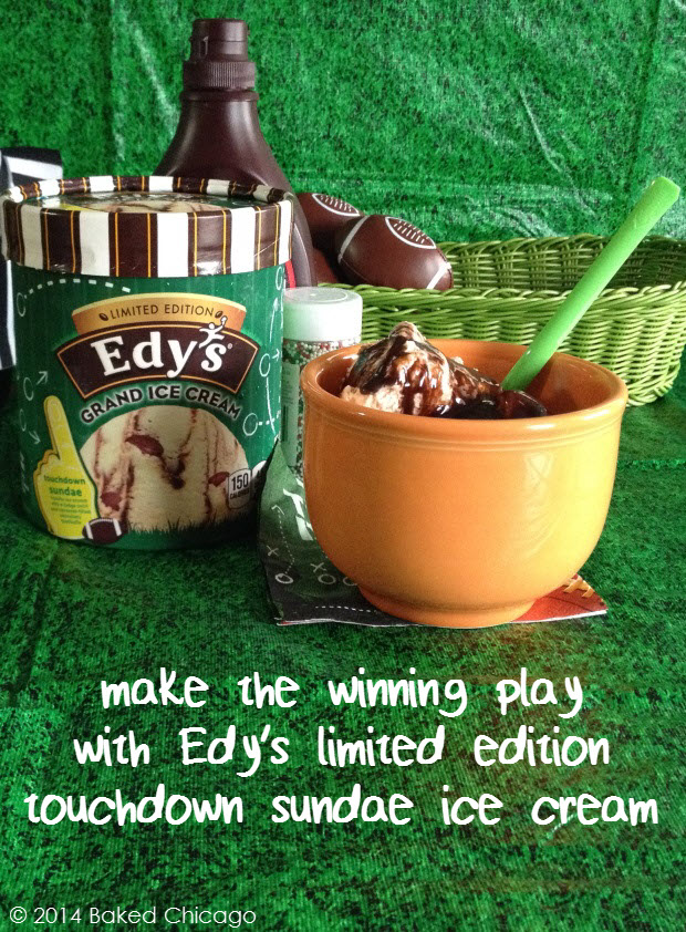 make a play for Edy's grand ice cream touchdown sundae