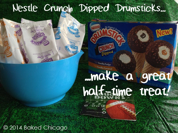 Nestle Crunch Dipped DRUMSTICKS make a great half-time treat
