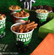 Goodies take the gridiron at your sports viewing party.