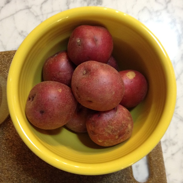 new, red potatoes
