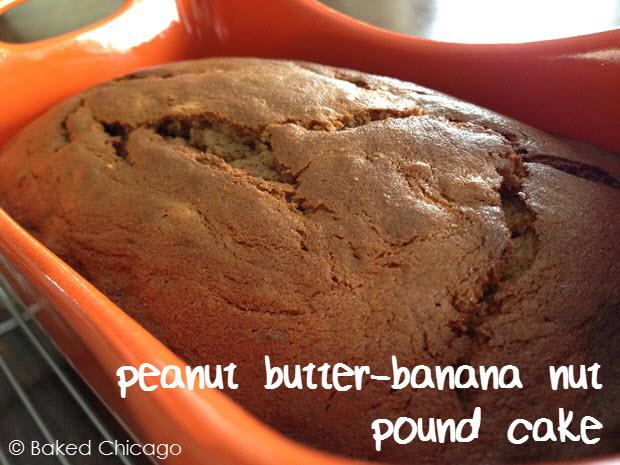 peanut butter banana nut pound cake