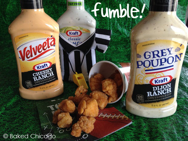 There's never a fumble with Tyson Popcorn Chicken and KRAFT dipping sauces