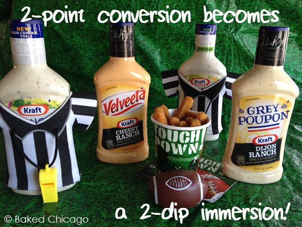 a 2-point conversion becomes a 2-dip immersion with KRAFT dipping sauces and Tyson Chicken Fries