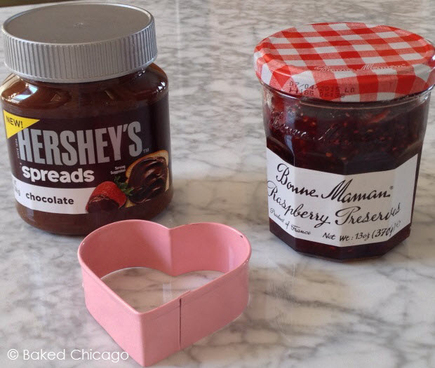 Hershey's spreads chocolate and Bonne Maman raspberry preserves