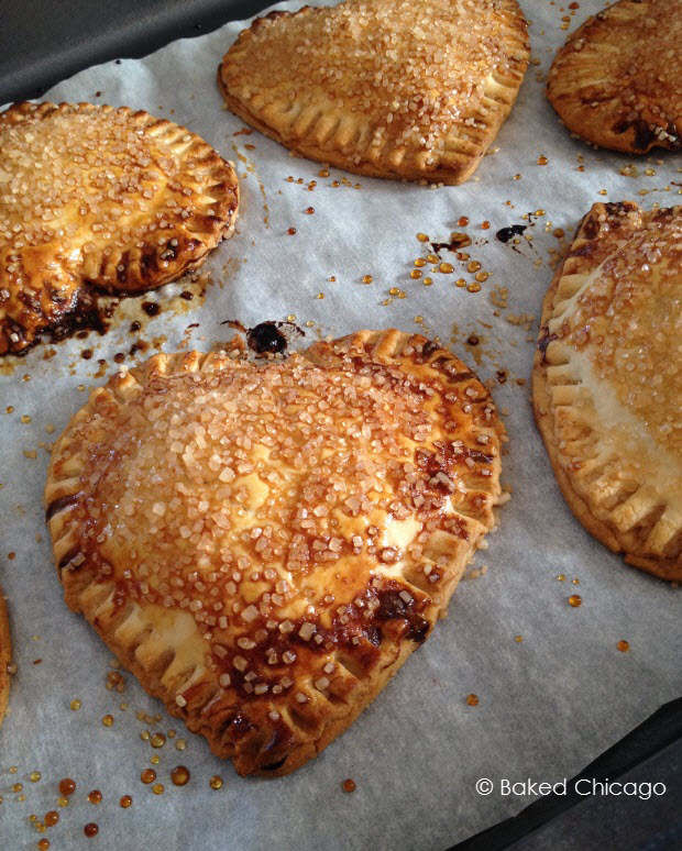 let the chocolate-raspberry heart tarts cool slightly before serving