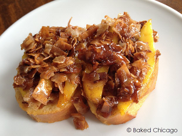featured image of coconut-mango upside down baked french toast #shop #JungleFresh
