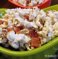 pecorino romano peppered popcorn with butter balsamic and bacon