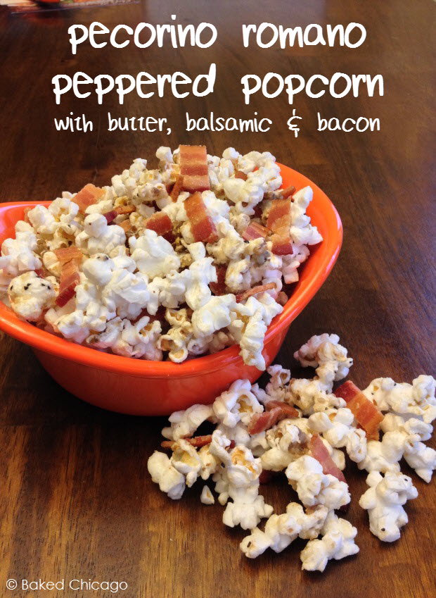 pecorino romano peppered popcorn