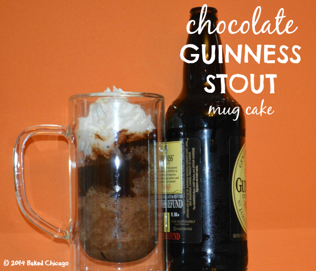 chocolate Guinness Stout mug cake
