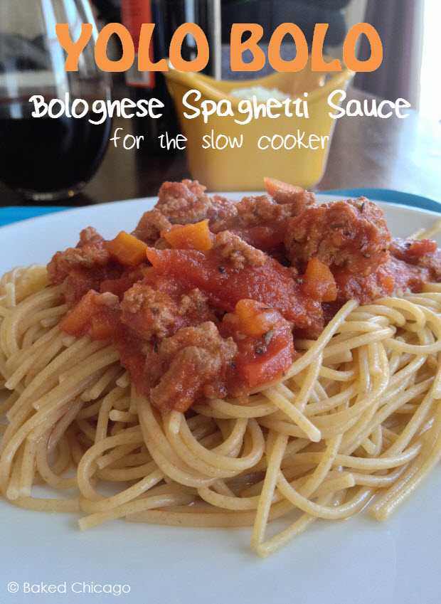 bolognese spaghetti sauce for the slow cooker
