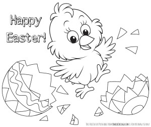 Free Printable Easter Coloring Page (for personal use only), #FreshTake #CollectiveBias