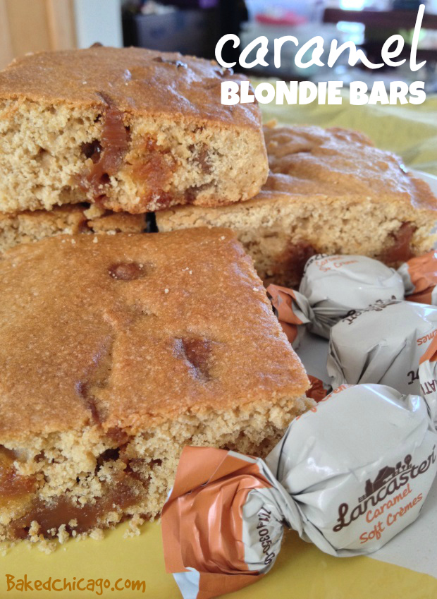 Caramel Blondie Bars with Hershey's LANCASTER Soft Caramel Cremes
