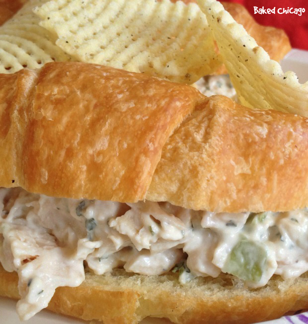 chicken salad on buttery croissant #MyMarianos #CollectiveBias, guy's guide for the perfect mother's day picnic