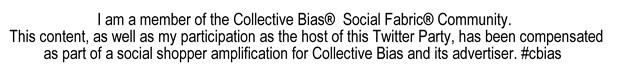 Collective Bias #TwitterParty disclosure #cbias #shop