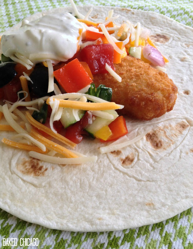 Mediterranian-inspired Fish Tacos #FoodDeservesDelicious #CollectiveBias #shop, salad dressing recipe, Zesty Italian, Ranch, tablecloth