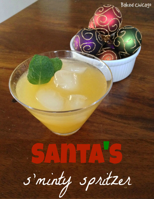 Santa's S'minty Spritzer is made with Diet Canada Dry Ginger Ale