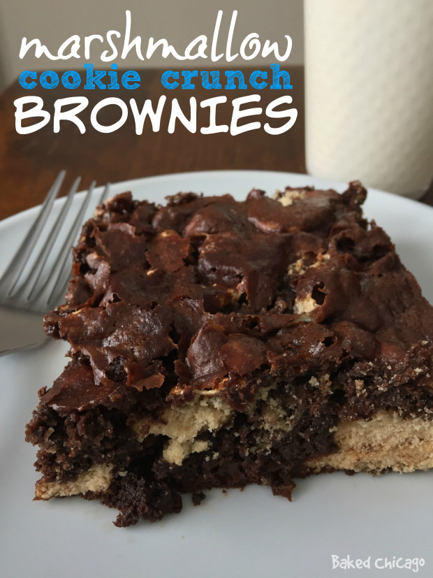 marshmallow cookie crunch brownies