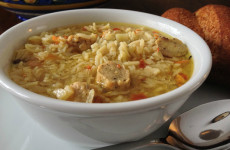 chicken sausage rice soup