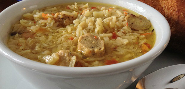 Fall Flavors: Chicken Sausage & Basmati Rice Soup