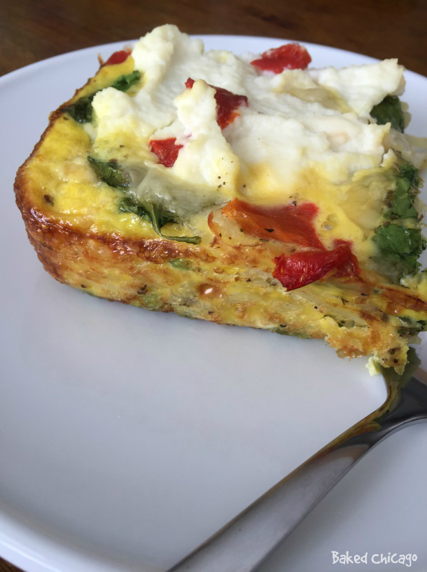 potato-ricotta frittata #SimplyPotatoes