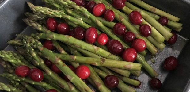 Roasted Asparagus & Cranberry Salad