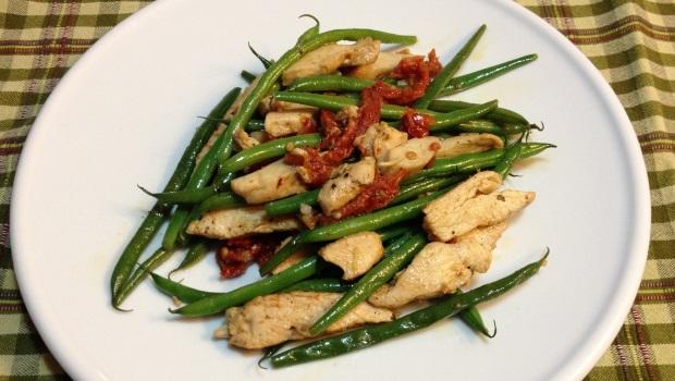 italian chicken french green bean stir fry