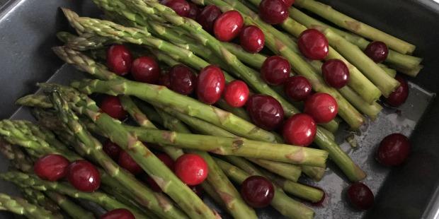 Roasted Asparagus & Cranberry Salad